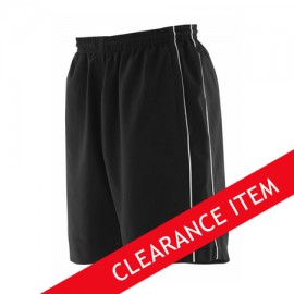 Special Offer Black Track Shorts With Piping - No Pockets